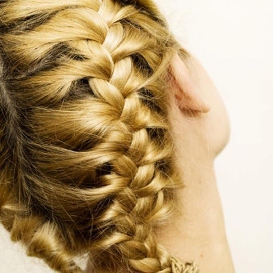 Косы на средний волос в домашних условиях фото