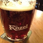 Photo taken at Kulaťák (Pilsner Urquell Original Restaurant) by Alexey F. on 11/7/2012