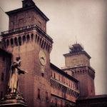 Photo taken at Castello Estense by Francesco C. on 3/30/2013