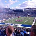 Photo taken at Ralph Wilson Stadium by Christine E. on 10/21/2012