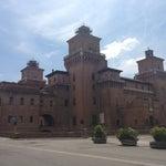 Photo taken at Castello Estense by Alina N. on 7/7/2013