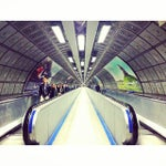 Photo taken at Waterloo London Underground Station by Sai V. on 10/18/2013