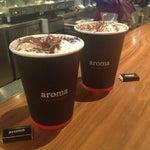 Photo taken at Aroma Espresso by Gazalle on 1/18/2013
