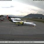 City Airport Bern-Belp (BRN) mit SkyWork & Airbus A319 der Helvetic Airways