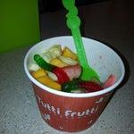 Photo taken at Tutti Frutti Frozen Yogurt by Nicole Z. on 8/26/2013