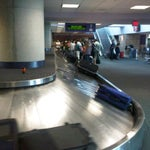 Everyone waits at the end of the baggage claim where the bags come out when there's plenty of room on the other end. Spread out! :)