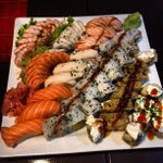 Photo taken at Sushifashion Carcavelos Riviera by Miguel G. on 6/11/2012