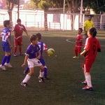 Photo taken at Cancha de Futbol de la Delegación Benito Juarez by René B. on 5/26/2012