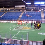 Photo taken at Hartman Arena by Adam R. on 2/18/2012