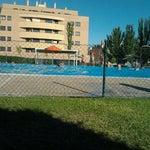 Photo taken at Polideportivo Obispo Barrientos by Antonio M. on 7/8/2012
