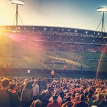 Photo taken at Waikato Stadium by Jesse T. on 3/1/2014