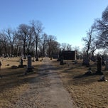 Photo taken at Oak Woods Cemetery by January S. on 3/19/2013