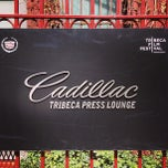 Photo taken at Cadillac Tribeca Press Lounge by Tassos L. on 4/16/2013