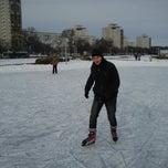 Photo taken at Каток возле национальной библиотеки by Andrey S. on 2/24/2013