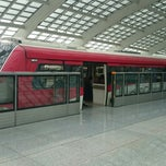 Photo taken at 地铁T3航站楼站 Subway T3 Terminal by xu w. on 5/18/2014