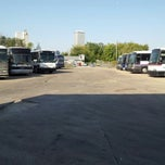 Photo taken at Pacesetter Charters/Greyhound Lot Tulsa, Oklahoma by Kevin on 10/4/2012