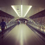 Photo taken at Metro Manquehue by Mauricio P. on 3/26/2013