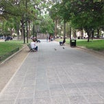 Photo taken at Plaza 9 de Julio by Delfina H. on 10/21/2013