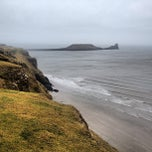 Photo taken at Worms Head by Max R. on 4/13/2013