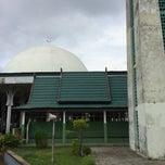 Photo taken at Masjid Agung Al-Falah by Arsyad M. on 8/9/2014
