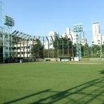 Photo taken at 青山運動場 野球場 by Y O. on 7/26/2014