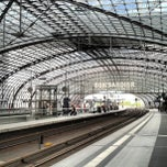 Photo taken at Berlin Hauptbahnhof by Michael V. on 5/23/2013
