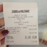 Photo taken at Zadig & Voltaire by Sophie L. on 8/20/2013