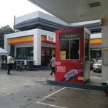 Photo taken at Shell - Greenhills by Mariel on 1/9/2013
