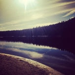 Photo taken at Bass Lake by Irina T. on 1/4/2014
