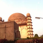 Photo taken at Gol Gumbaz by Rounak J. on 12/16/2012