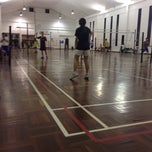 Photo taken at Venetian Badminton Court by Niel on 10/8/2013