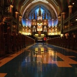 Photo taken at Basilique Notre-Dame by Bruno B. on 11/4/2012