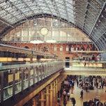Photo taken at London St Pancras International Railway Station (STP) by Andrew v. on 6/3/2013