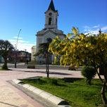 Photo taken at Plaza de Armas de Puerto Natales by Nelson G. on 11/15/2012