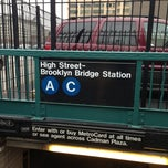 Photo taken at MTA Subway - High St/Brooklyn Bridge (A/C) by TJ C. on 1/1/2013