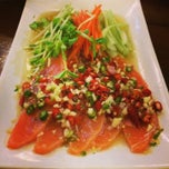 Photo taken at Salmon Cuisine by Phantira K. on 6/7/2014