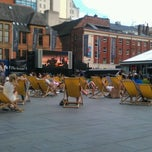 Photo taken at Spinningfields Square by Phil M. on 10/1/2011