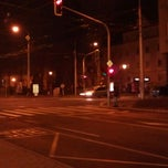 Photo taken at Skácelova (tram, bus) by Honza T. on 12/19/2011