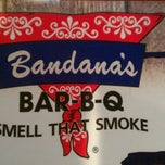 Photo taken at Bandana's Bar-BQ by Kelly B. on 9/17/2011