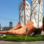 Photo taken at World's Largest Cowboy Boots by Mike E. on 4/2/2012