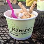 Photo taken at Bamboo Frozen Yogurt Café by Kevin J. on 4/23/2013