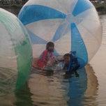 Photo taken at Danau perum Alamanda regency by Agus N. on 8/1/2014