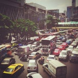 Photo taken at แยกราชประสงค์ (Ratchaprasong Intersection) by MrPae T. on 5/17/2013