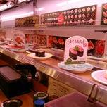 Photo taken at かっぱ寿司 十日町店 by Yui ユ. on 11/22/2014