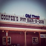 Photo taken at Cooper's Old Time Pit Bar-B-Que by Jerry H. on 2/23/2013