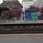 Photo taken at Gare SNCF de Suresnes — Mont Valérien by Damien R. on 11/22/2012