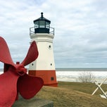 Photo taken at Vermilion Lighthouse by Edie C in the CLE p. on 3/22/2015
