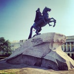 Photo taken at Медный всадник / Bronze Horseman by Aliona O. on 7/12/2013
