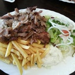 "Photo taken at ""Der Grieche"" Grill Imbiss by Marc D. on 2/15/2013"
