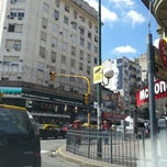 Photo taken at Avenida Corrientes by Gustavo D. on 2/21/2013